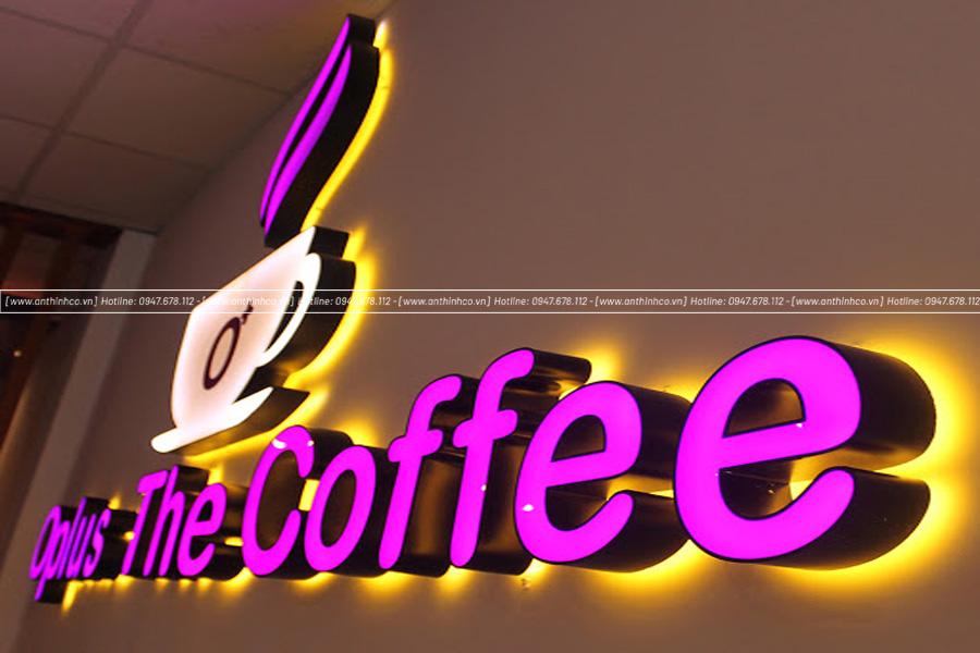 Bảng quảng cáo chữ nổi quán cà phê