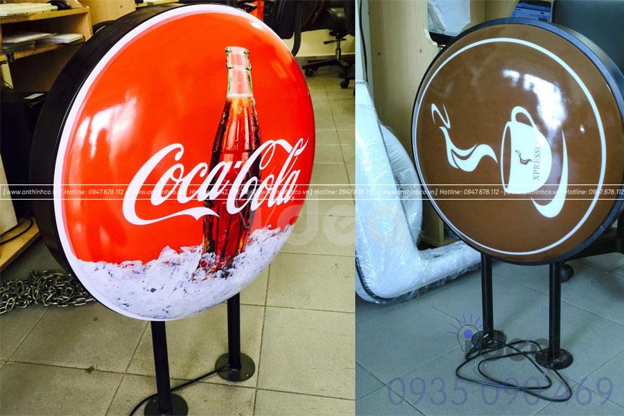 Hộp đèn quảng cáo dạng tròn