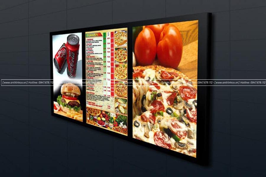 Lightbox quảng cáo pizza