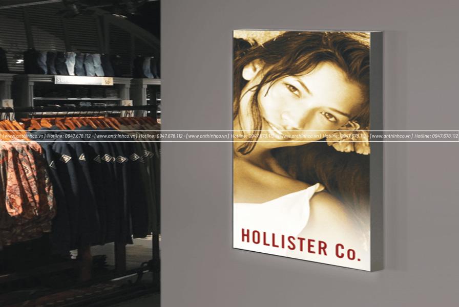 Lắp đặt lightbox cho một thương hiệu thời trang