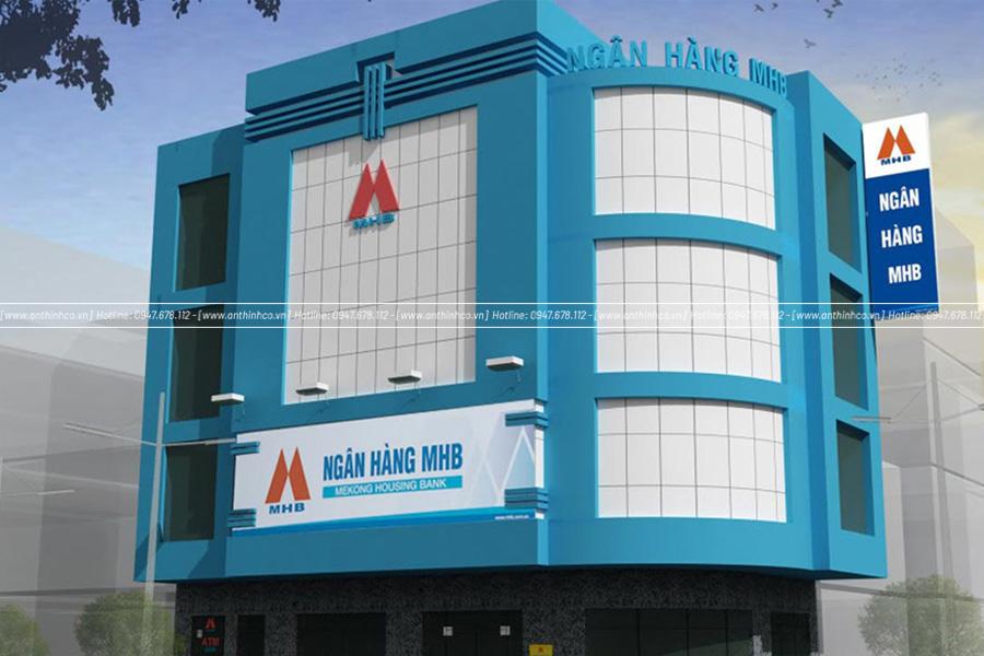Thiết kế mặt dựng Alu cho ngân hàng MHB