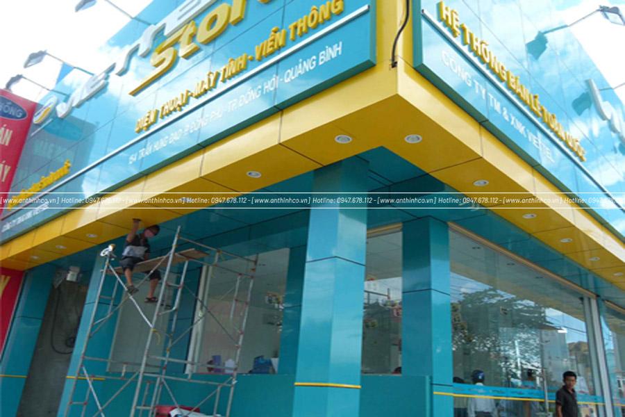 Mặt dựng Alu thiết kế cho Viettel store
